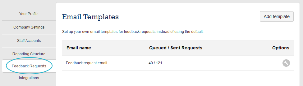 Edit email template click on the feedback requests tab pronofoot35fo Choice Image