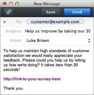 email survey template